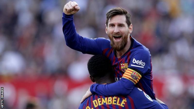 मेस्सीकाे ह्याट्रिकमा बार्सिलोना विजयी
