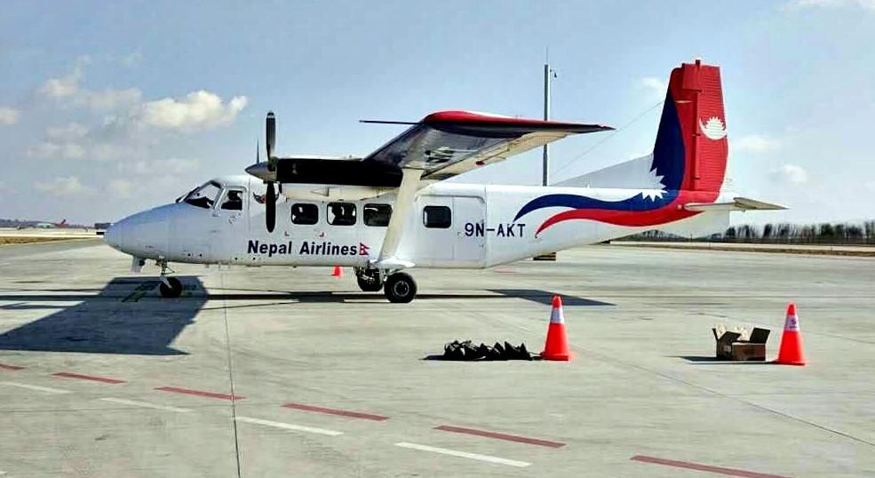 डेढ महिनादेखि ग्राउन्डेड निगमको वाइ–१२ विमानले सुरू गर्याे उडान