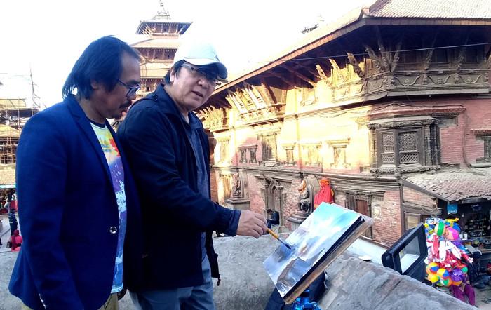 नेपाली चित्रकला सिक्दै चिनियाँ कलाकार