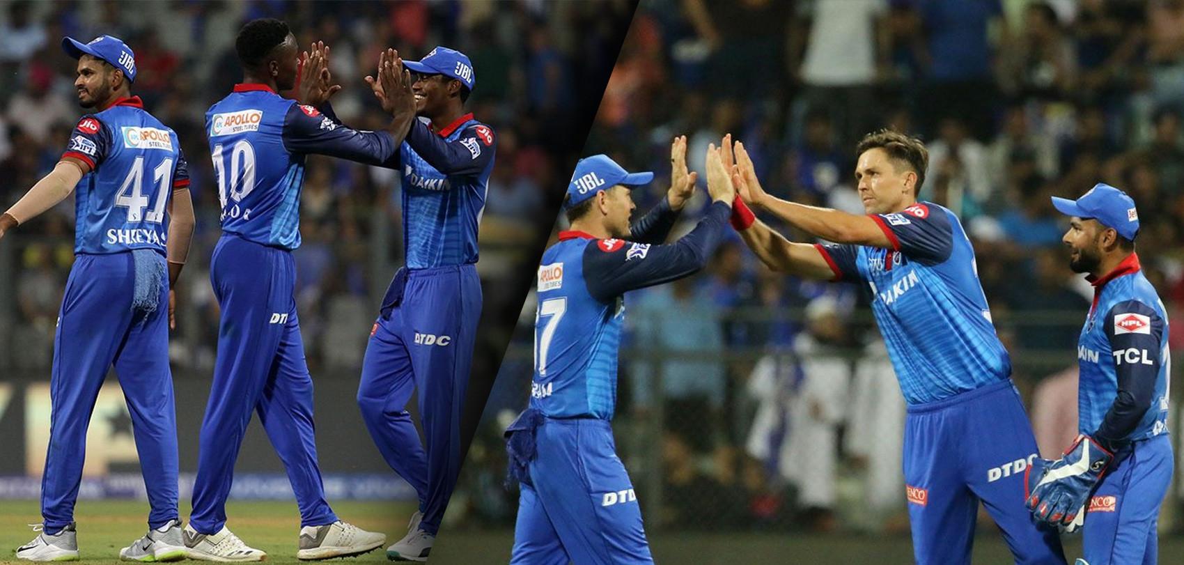 दिल्ली क्यापिटल्स ३७ रनले विजयी