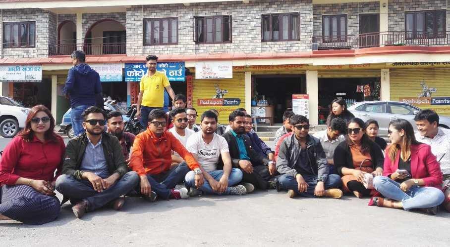पत्रकार गिरीको गिरफ्तारी विरुद्ध गण्डकीका पत्रकार आन्दोलित