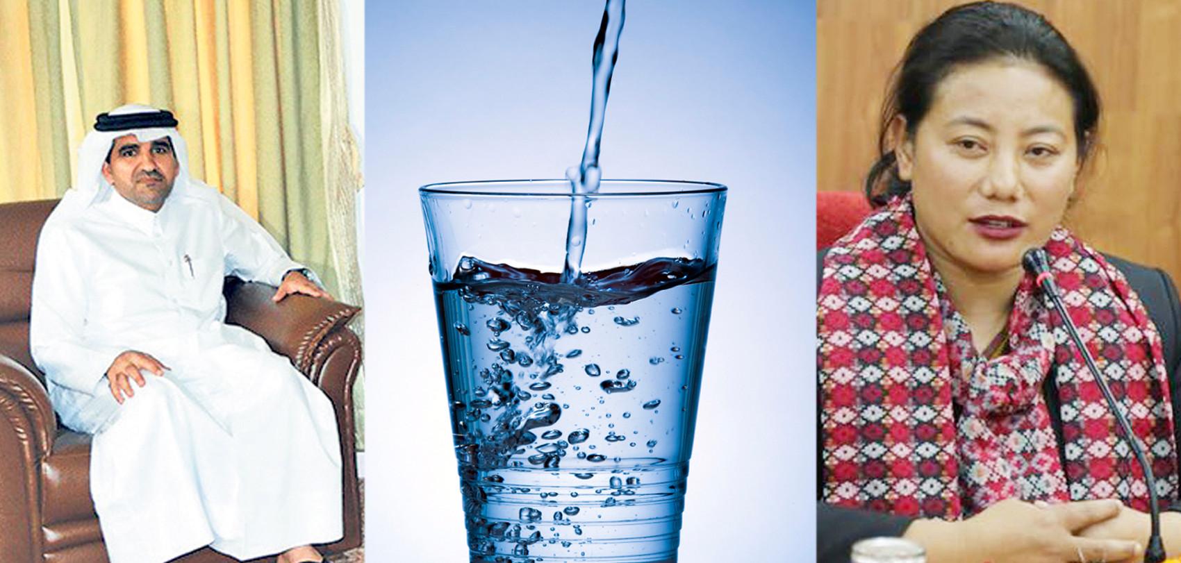 कतारी राजदूतको प्रस्ताव : नेपालको पानी किन्न सकिने